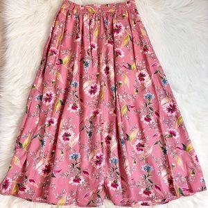 Liz Claiborne Vintage 90s Floral Pink Maxi Skirt